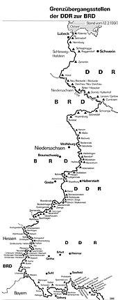 Verlauf Ddr Grenze Karte.Innerdeutsche Grenze Wikipedia