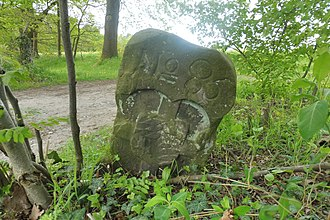 Hochstift - Stone marker demarcating the former Hochstift of the Bishop of Paderborn and the County of Rietberg