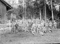 Gruppenbild der rekonvaleszenten Soldaten - CH-BAR - 3241417.tif