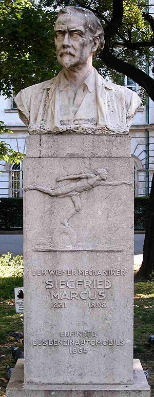 Siegfried Marcus - Monument at Vienna Technical Museum