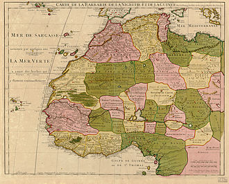 Maghreb - 1707 map of northwest Africa by Guillaume Delisle, including the Maghreb