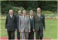 Guilo Andreotti, Takeo Fukuda, Jimmy Carter, Helmut Schmidt and Giscard d'Estaing at the G7 Economic Summit in Bonn... - NARA - 180380.tif