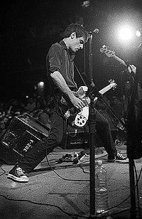 Guitarist Guy Picciotto onstage