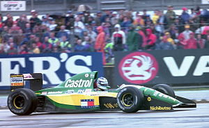 1992 British Grand Prix - Mika Häkkinen finished sixth in his Lotus 107.