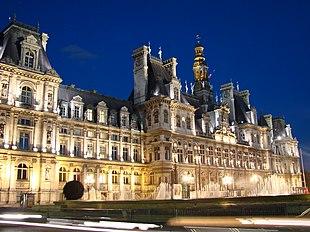 The H Tel De Ville Building In Paris France