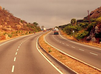 Golden Quadrilateral - A section of the Golden Quadrilateral highway from Chennai – Mumbai phase