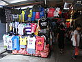 HK CWB Jardine's Crescent morning outdoor market stalls clothing goods Aug-2012.JPG