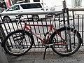HK SW 上環 Sheung Wan 荷李活道 Hollywood Road bicycle parking Bridgestone April 2020 SS2 01.jpg