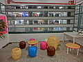 HK Sheung Wan PMQ mall Hollywood Road night shop corridor balcony May-2014 003 seat.JPG