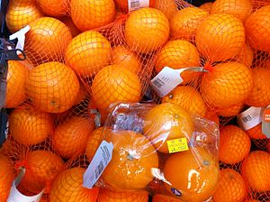 String bag - Oranges packed in net bags