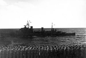 HMS Gambia (48) - HMNZS Gambia, 18 May 1944.