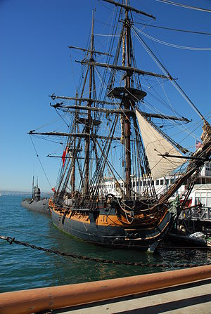 Aubrey–Maturin series - A replica of HMS ''Surprise'' at the San Diego Maritime Museum, based on HMS Rose and used in the film.