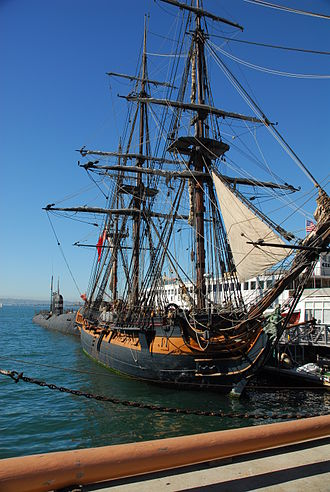 Aubrey–Maturin series - A replica of HMS Surprise at the San Diego Maritime Museum, based on HMS Rose and used in the film.