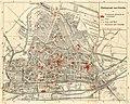 HUA-212045-Plattegrond van de stad Utrecht met weergave van het stratenplan met straatnamen wegen spoorlijnen watergangen plantsoenen en bruggen Met aanduiding v.jpg