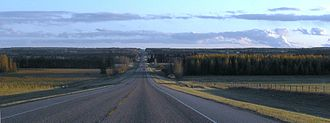 Alberta Highway 22 - Southbound Highway 22, north of Sundre