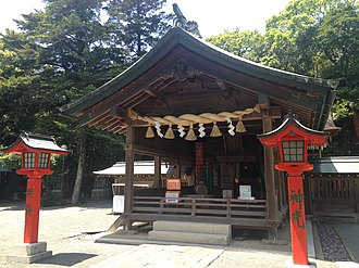 Sacred Island of Okinoshima and Associated Sites in the Munakata Region - Image: Haiden of Munakata Grand Shrine (Nakatsu Shrine)