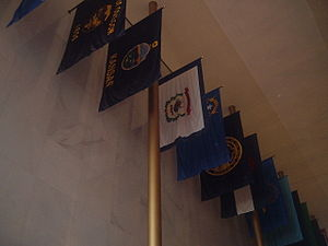 John F. Kennedy Center for the Performing Arts - Flags in the Hall of States