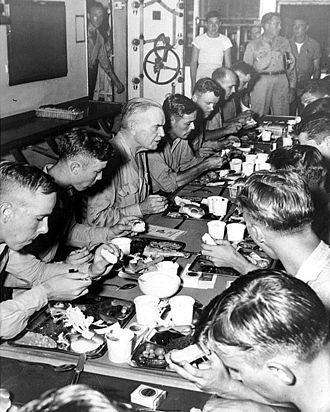 William Halsey Jr. - Halsey dines with crew of USS New Jersey (November 1944)