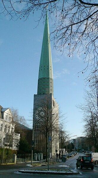 St. Nicholas' Church, Hamburg - Image: Hamburg.harvestehude .hauptkirche.st.niko lai.nord.wmt