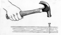 Hammering a nail (line art) (PSF H-420004 (cropped)).png