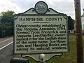 Hampshire County Historical Marker Paw Paw Road Woodrow WV 2014 09 11 03.jpg