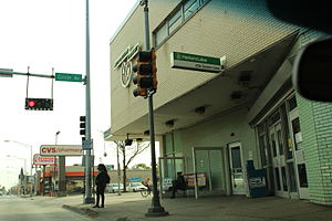 Green Line (CTA) - Harlem and Lake Green Line entrance in Forest Park/Oak Park