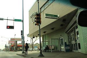Green Line (CTA) - Harlem and Lake Green Line entrance in Forest Park/Oak Park