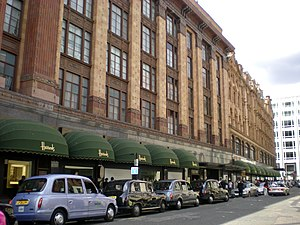 Entry of Harrods, LOndon