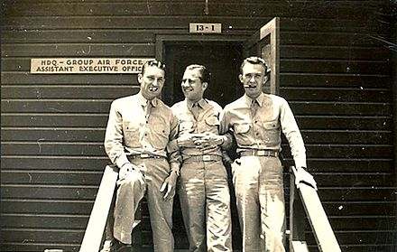 Harry Claiborne (left) during World War II Harry-claiborne-wwii.jpg