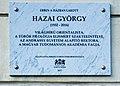 Hazai György emléktábla (Közraktár u. 12a.).jpg