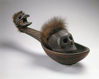 Heiltsuk - Heiltsuk, Ladle with Skull, 19th century, Brooklyn Museum