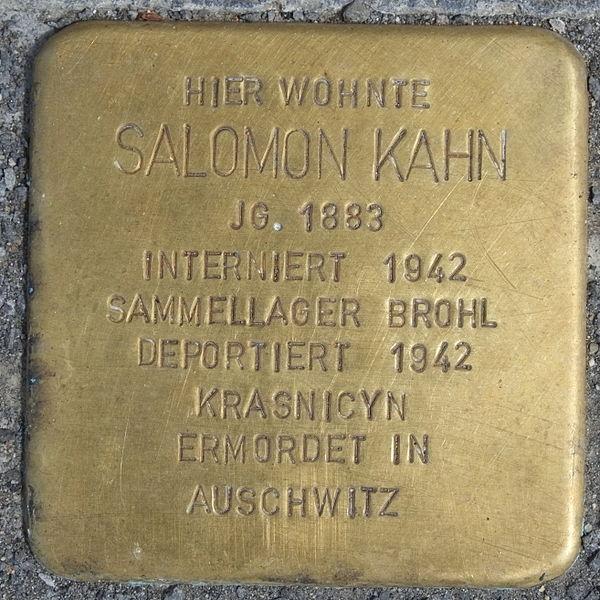 File:Heimersheim (Bad Neuenahr-Ahrweiler) Stolperstein Salomon Kahn 2913.JPG