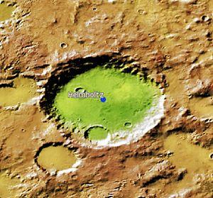 Helmholtz (Martian crater) - Image: Helmholtz Martian Crater