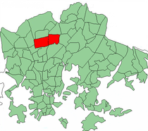 Position of Pakila within Helsinki