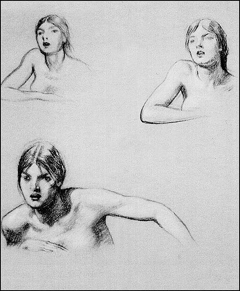 File:Herbert James Draper, Studies for Halcyone.jpg