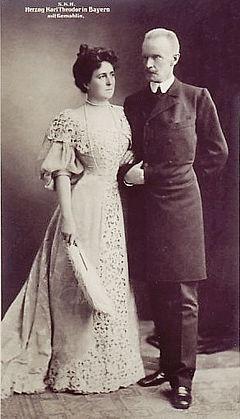 Herzog Carl Theodor und Gattin 1890