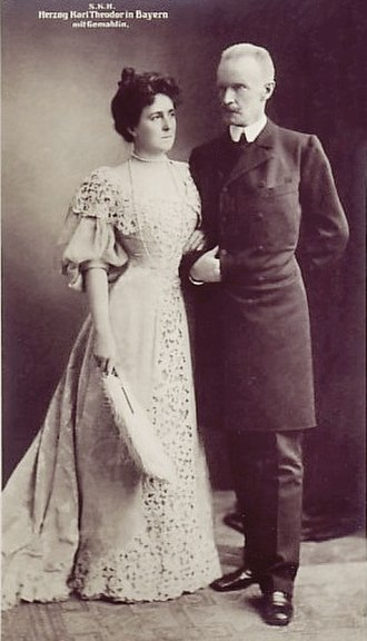 Karl Theodor, Duke in Bavaria - Karl-Theodor and his second wife, Infanta Maria Josepha of Portugal, 1890