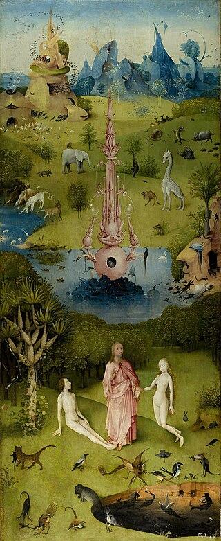 Il Giardino dell'Eden in un dipinto di Hieronymus Bosch dans immagini sacre 320px-Hieronymus_Bosch_-_The_Garden_of_Earthly_Delights_-_The_Earthly_Paradise_%28Garden_of_Eden%29