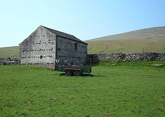 Yorkshire Dales - Typical Dales barn, near Selside