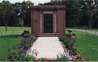 George Edward Hilt - George Hilt mausoleum at Laketon Township Cemetery in Muskegon County, Michigan, US