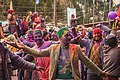 Himachali people covered in holi colours, dancing. 01.jpg