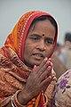 Hindu Devotee Prays To Sun - Makar Sankranti Observance - Kolkata 2018-01-14 6888.JPG