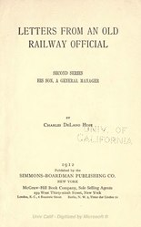 Letters from an old railway official (Second series) (1912)