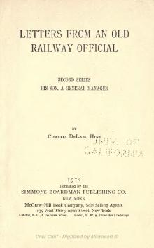 Hine (1912) Letters from an old railway official.djvu