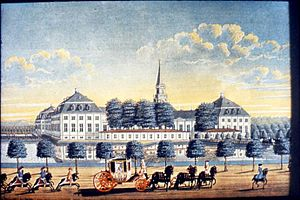 Hørsholm - Hirschholm Palace in 1739 painted by Joahn Jacob Bruun