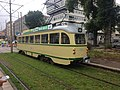 Historical tourist tram at Scheveningen, July 2017.jpg