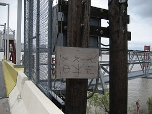 Hobo - Hobo code at a Canal Street Ferry entrance in New Orleans, Louisiana