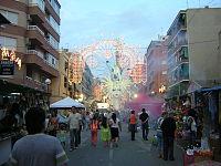 Vista general de una Hoguera en Alicante