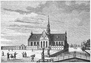 Church of Holmen - The church in the 18th century