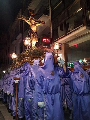 Holy Wednesday - Holy Wednesday procession in Villarreal, Spain (2015)
